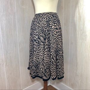 CJ Banks Midi Skirt in Black & Tan Floral Print